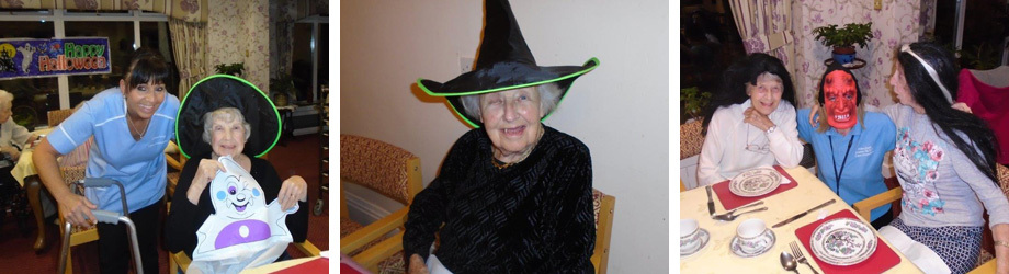Halloween party with care home residents and staff
