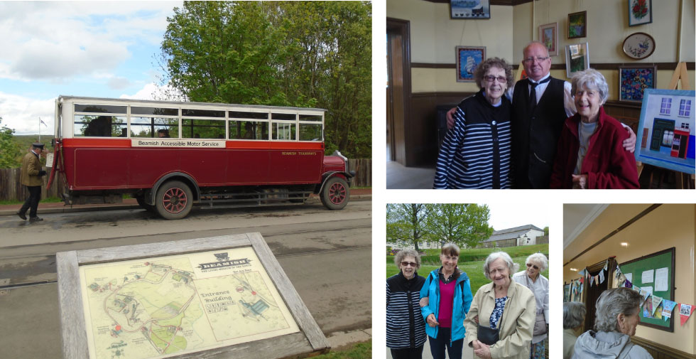 Abbeyfield newcastle care residents visit Beamish